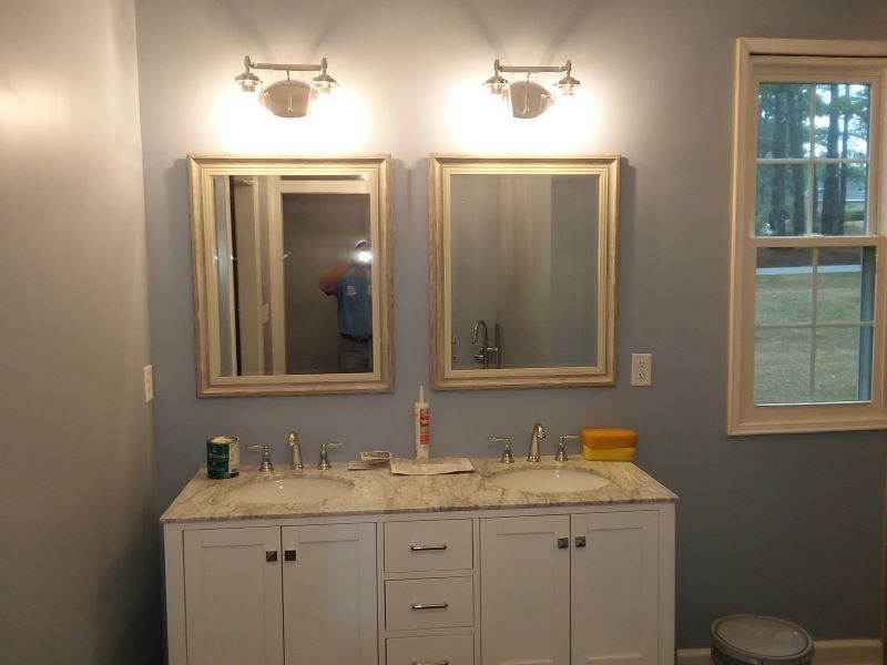 After Bathroom Renovations with custom vanity